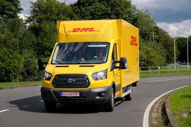Ford ready to help Deutsche Post's electric vans go global