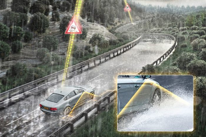 Continental develops aquaplaning warning system