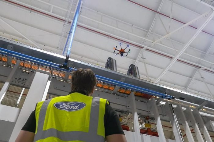 Ford inspection drones keep engine plant workers safely grounded