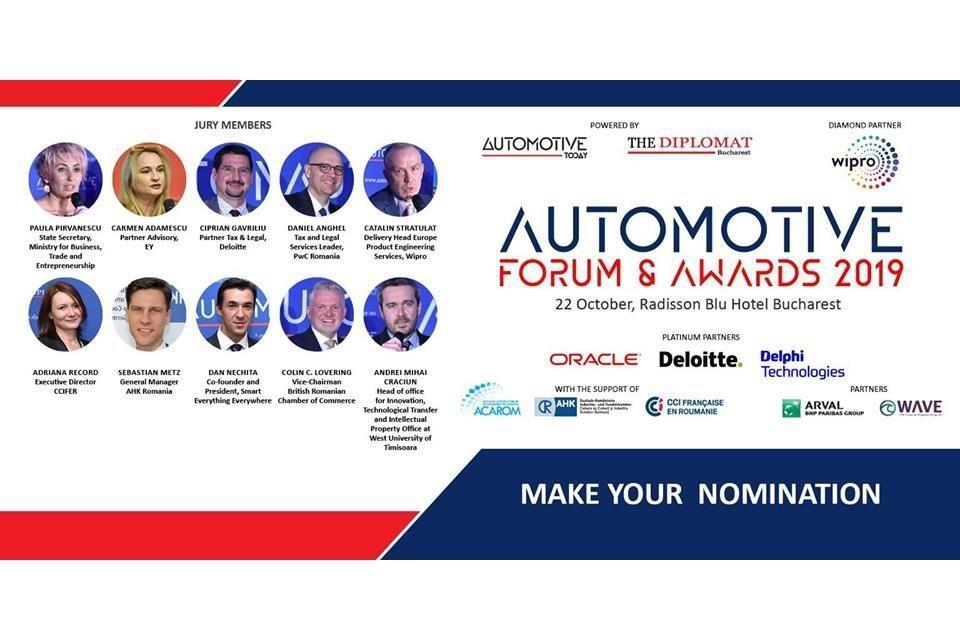 Automotive Forum & Awards 2019: make your nominations until September 30
