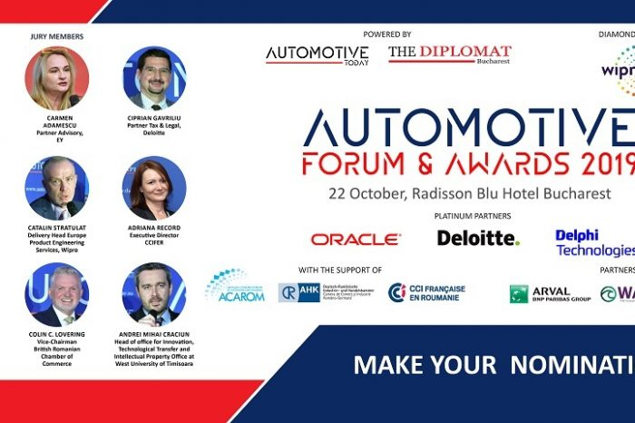 The second edition Automotive Industry Forum & Awards Gala to take place on October 22 at Bucharest