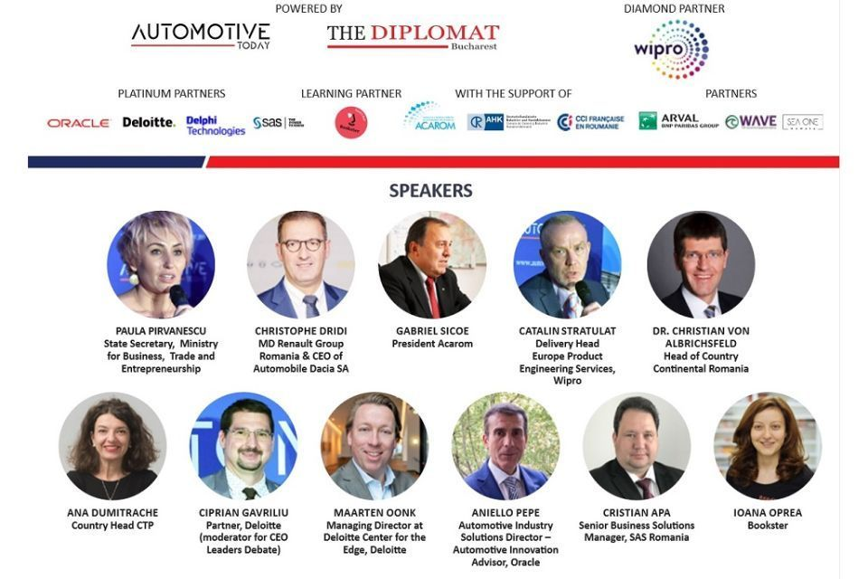 Meet the speakers of The Automotive Industry Forum & Awards Gala on October 22 at Bucharest