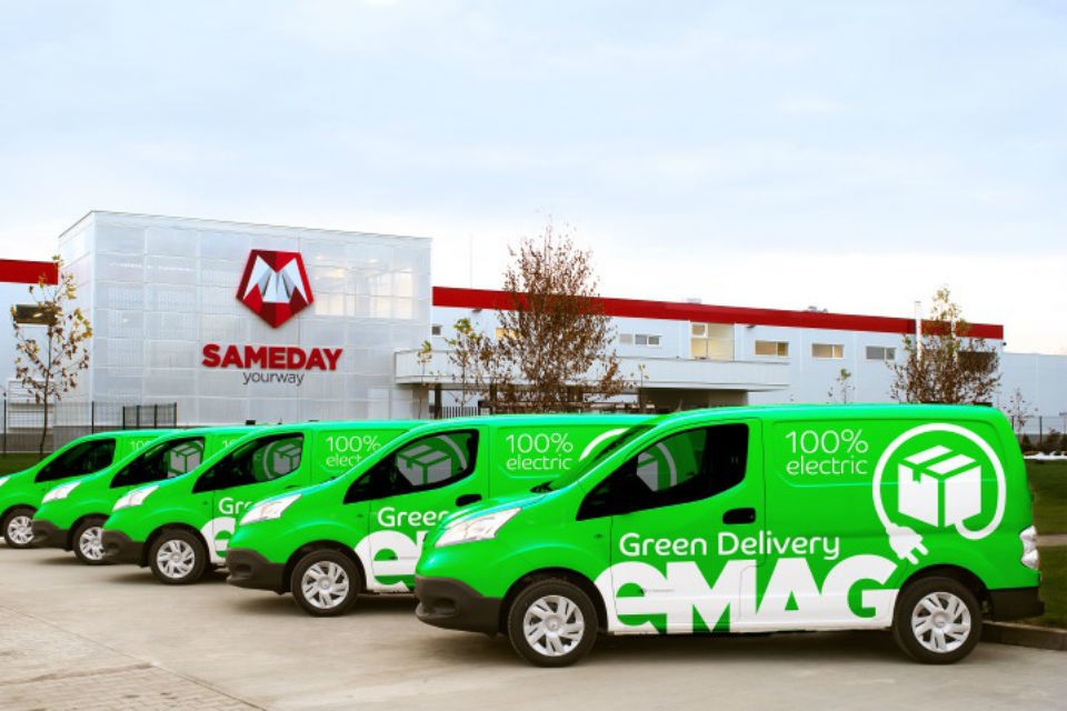 eMag launches Green Delivery service with electric cars