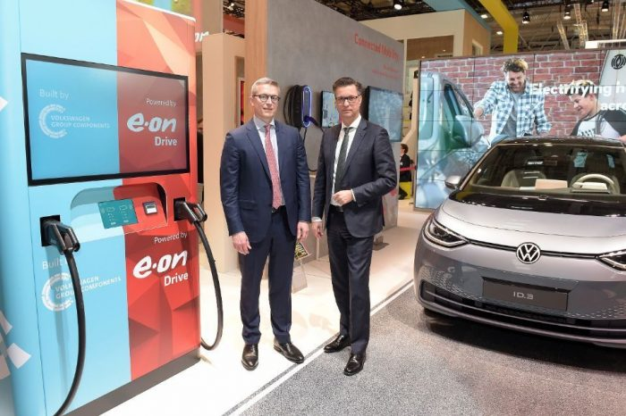 E.ON and Volkswagen launch prototype of new ultra-fast charging station for electric vehicles