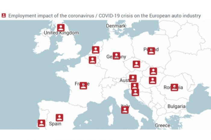 Jobs of over 1.1 million EU automobile workers affected so far by COVID-19, ACEA data shows