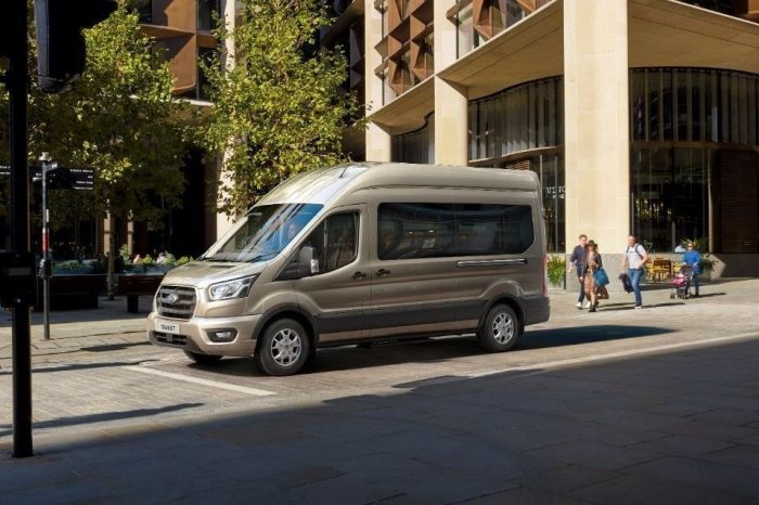 Ford introduces Mustang's 10-speed auto transmission on Transit minibus