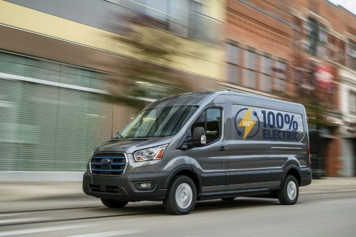 Ford reveals E-Transit, the electric version of its cargo van with driving range of up to 350 km